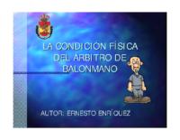 La condició física de làrbitre dhandbol. E. Enríquez