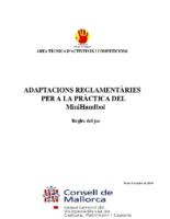 MiniHandbol Adaptacions reglamentaries pràctica minihandbol