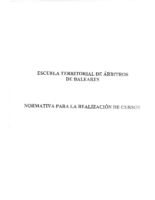 Normativa para la realizacion de cursos